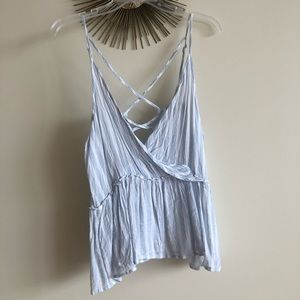 American Eagle vertical stripe tank